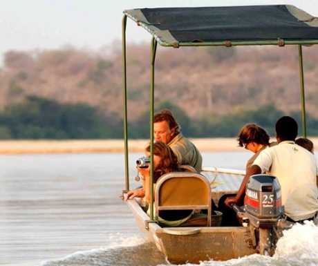 Selous Reserve Tanzania boating on Rufiji River