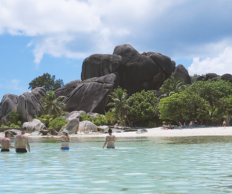 Beach at La Digue