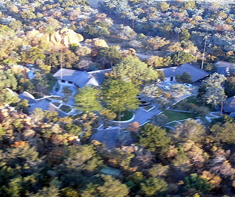 Aerial view of Monate Game Lodge