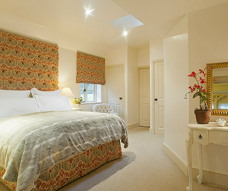 Master bedroom at Stone Lodge