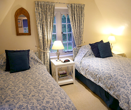 Twin bedroom at Stone Lodge