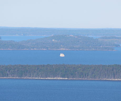 The view of Penobscot Bay from Mount Battie