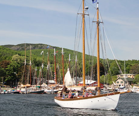 Enjoy a schooner sail in Camden