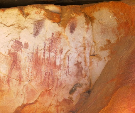 Kagga Kamma, rock art group of figures
