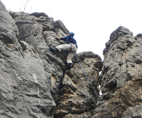 Rock Climbing in winter