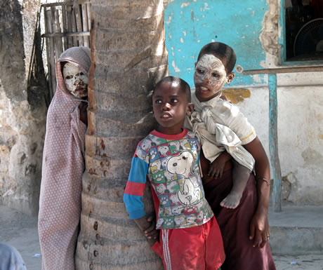 Local children in Pemba, Mozambique