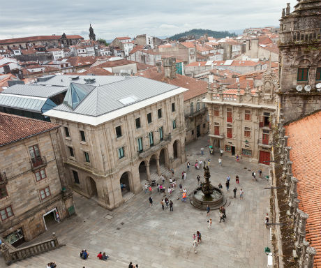 Santiago de Compostela view from cathedral rooftop