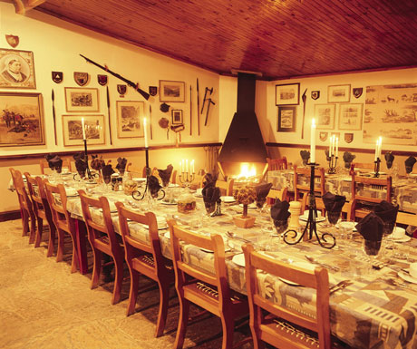 Christmas dinner at Fugitives Drive Lodge KwaZulu Natal South Africa