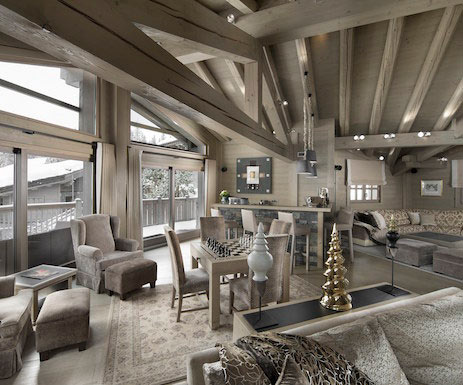 Chalet Abbruezzes Courchevel France, French Alps