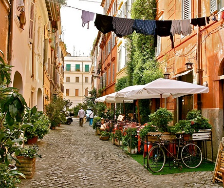 rome neighbourhoods trastevere