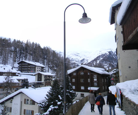 Walking through Zermatt
