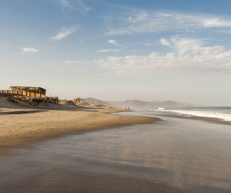 Mancora, beach and surf town in Peru