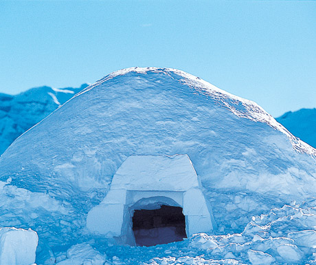 igloo in the Alps