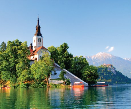 Slovenia_shutterstock_st martin church, lake bled-small
