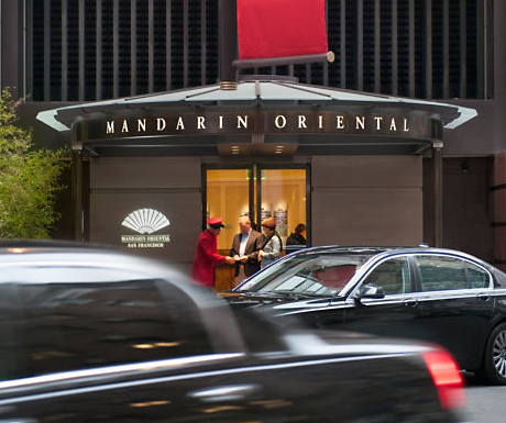 Entrance to Mandarin Oriental San Francisco