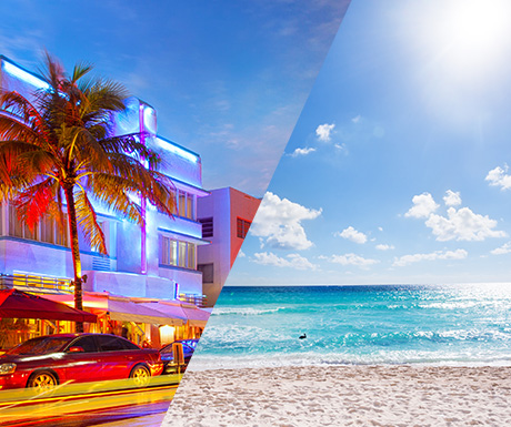 Miami and Cancun
