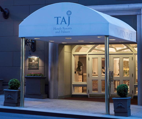 Entrance at Taj Campton Place