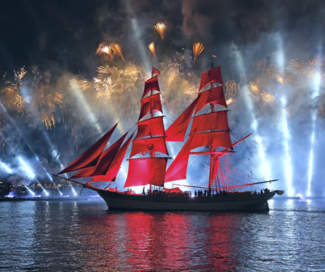 The Scarlet Sails event during the White Nights Festival in St Petersburg