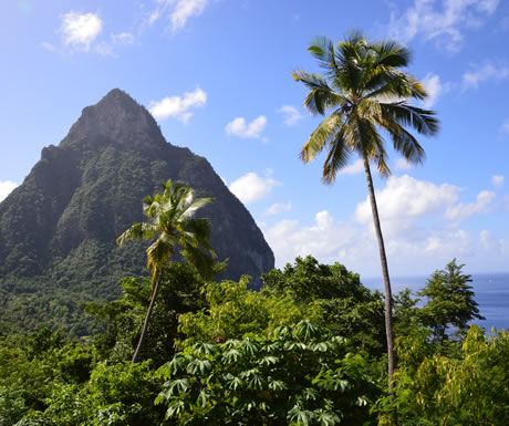 Saint Lucia in the Caribbean