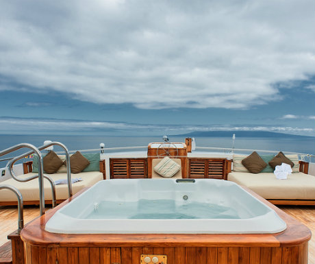 Galapagos cruise Sea Star journey Jacuzzi deck