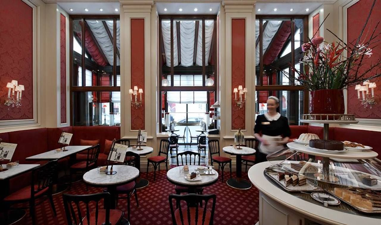Inside the Sacher Hotels coffee house in Vienna