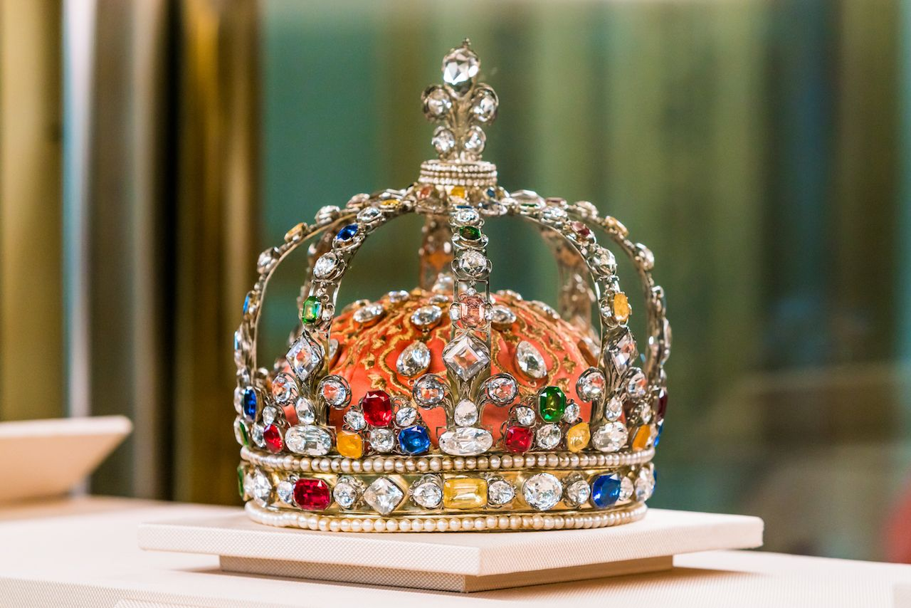 King Crown jewels in the Louvre