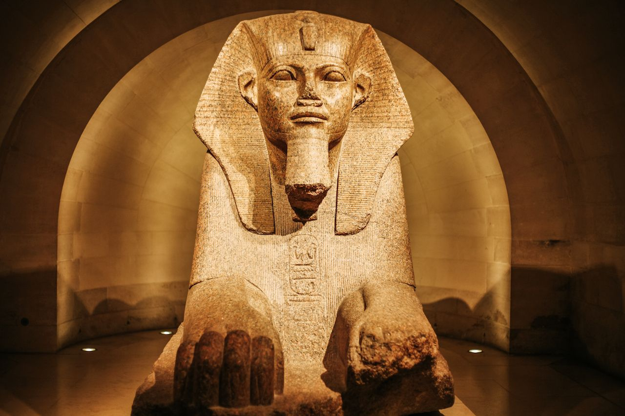 Great Sphinx of Tanis in the Louvre