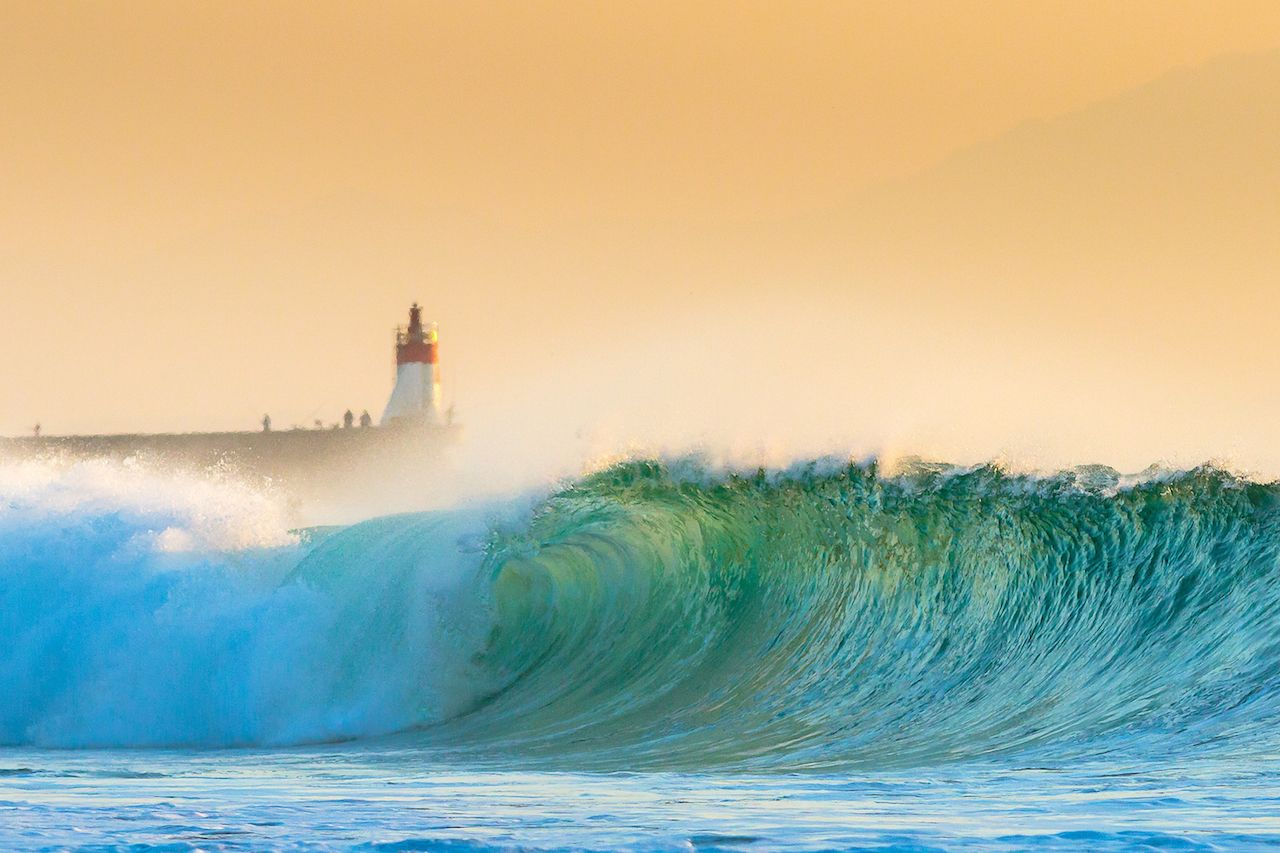Hossegor Beach Wave in French Basque Country